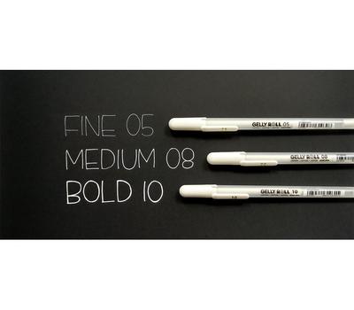 Ручка гелевая Gelly Roll (белая 0,5 мм), фото 2