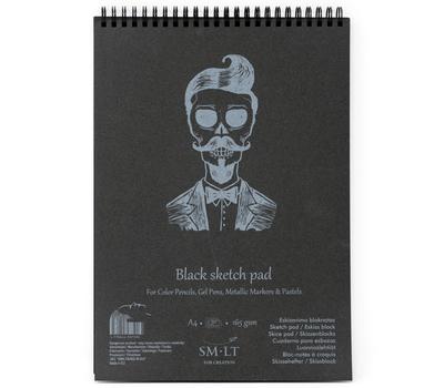 Альбом SM-LT Authentic Black 165 г/м2 A4 30л черный, спираль, фото 1