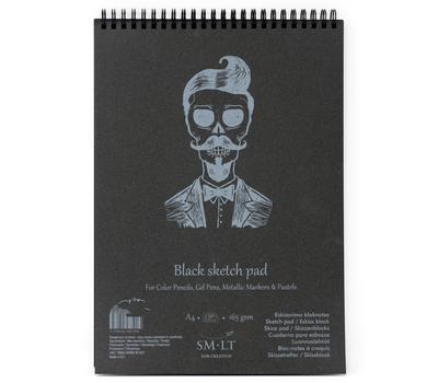 Альбом SM-LT Authentic Black 165 г/м2 A5 20л черный, спираль, фото 1