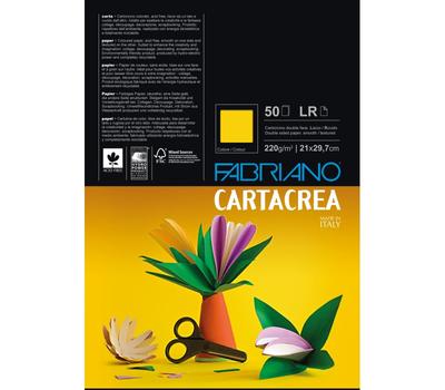 Бумага цветная Cartacrea 220г/м.кв 21x29,7см красный 50л/упак, фото 1