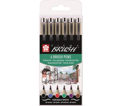 Набор капиллярных ручек Pigma Brush 6шт, фото 1